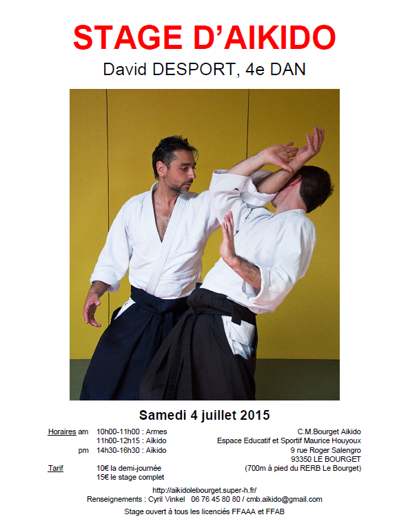 STAGE D'AIKIDO - David DESPORT - 4e DAN
